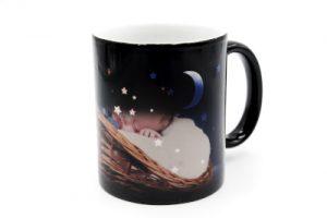 Mug magique gravé STAR avec photo