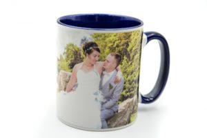 Mug personnalisé bleu marine avec photo