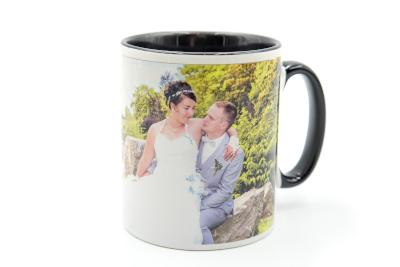 Mug personnalisé noir avec photo