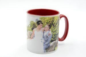 Mug personnalisé rouge avec photo