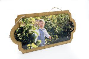 Plaque ovale pour porte personnalisable avec photo