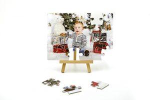 Puzzle personnalisable avec photo rectangulaire en carton
