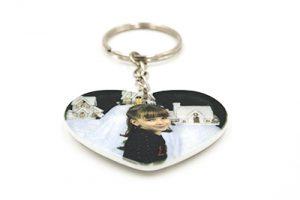 porte clés coeur en plastique