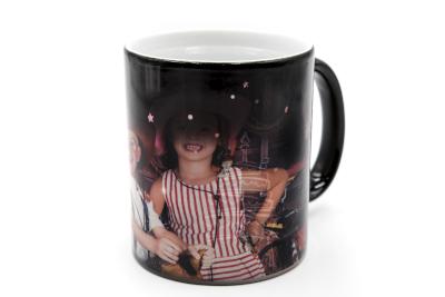 Mug magique gravée happy birthday avec photo